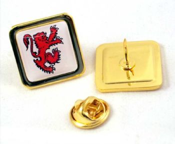 20mm superior quality gold pin badge clutch